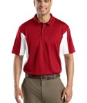 Sport-Tek ST655 Side Blocked Miropique Polo True Red/White