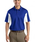 Sport-Tek ST655 Side Blocked Miropique Polo True Royal/White