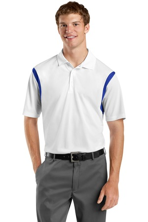 Sport-Tek ST656 Back Blocked Micropique Sport-Wick Polo White True Royal