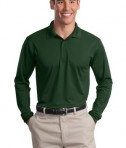 Sport-Tek ST657 Long Sleeve Micropique Sport-Wick Polo Forest Green