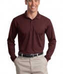 Sport-Tek ST657 Long Sleeve Micropique Sport-Wick Polo Maroon