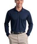 Sport-Tek ST657 Long Sleeve Micropique Sport-Wick Polo True Navy