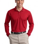 Sport-Tek ST657 Long Sleeve Micropique Sport-Wick Polo True Red