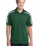 Sport-Tek ST658 Tricolor Shoulder Micropique Sport-Wick Polo Forest Green/Black/White