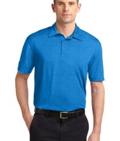 Sport-Tek ST660 Heather Contender Polo Blue Wake Heather