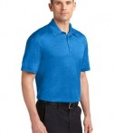 Sport-Tek ST660 Heather Contender Polo Blue Wake Heather Angle