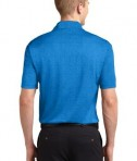 Sport-Tek ST660 Heather Contender Polo Blue Wake Heather Back