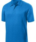 Sport-Tek ST660 Heather Contender Polo Blue Wake Heather Flat
