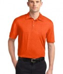 Sport-Tek ST660 Heather Contender Polo Deep Orange Heather