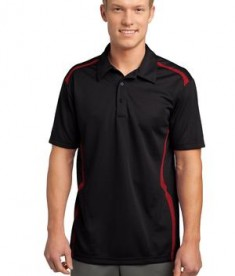 Sport-Tek ST670 Vector Sport-Wick Polo Black/True Red