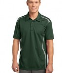 Sport-Tek ST670 Vector Sport-Wick Polo Forest Green/White