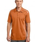 Sport-Tek ST670 Vector Sport-Wick Polo Texas Orange/White