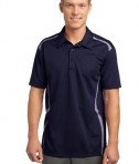 Sport-Tek ST670 Vector Sport-Wick Polo True Navy/White