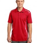 Sport-Tek ST670 Vector Sport-Wick Polo True Red/White