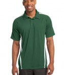 Sport-Tek ST685 PosiCharge Micro-Mesh Colorblock Polo Forest Green/White