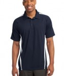 Sport-Tek ST685 PosiCharge Micro-Mesh Colorblock Polo True Navy/White