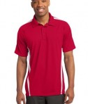 Sport-Tek ST685 PosiCharge Micro-Mesh Colorblock Polo True Red/White