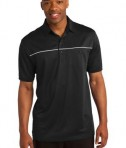 Sport-Tek ST686 PosiCharge Micro-Mesh Piped Polo Black/White