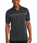 Sport-Tek ST686 PosiCharge Micro-Mesh Piped Polo Iron Grey/White