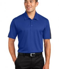 Sport Tek ST695 Active Textured Colorblock Polo True Royal/Grey
