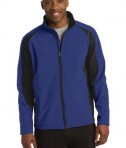 Sport-Tek ST970 Colorblock Softshell Jacket Forest True Royal/Black