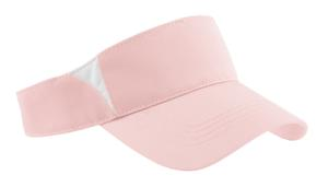 Sport-Tek STC13 Dry Zone Colorblock Visor Light Pink/White