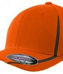Sport-Tek STC16 Flexfit Performance Colorblock Cap Deep Orange/Black