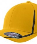 Sport-Tek STC16 Flexfit Performance Colorblock Cap Gold/Black