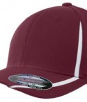 Sport-Tek STC16 Flexfit Performance Colorblock Cap Maroon/White