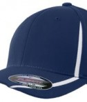 Sport-Tek STC16 Flexfit Performance Colorblock Cap True Navy/White