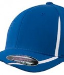 Sport-Tek STC16 Flexfit Performance Colorblock Cap True Royal/White