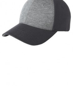 Sport-Tek STC18 Jersey Front Cap Vintage Heather/Iron Grey