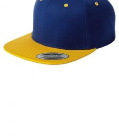Sport-Tek STC19 Flat Bill Snapback Cap True Royal/Gold
