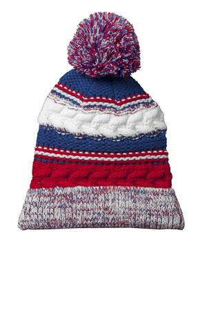 Sport-Tek STC21 Pom Pom Team Beanie True Red/True Royal/White