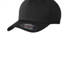 Sport-Tek STC22 Flexfit Cool & Dry Poly Block Mesh Cap Black