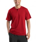 Sport-Tek T210 Short Sleeve Henley Red