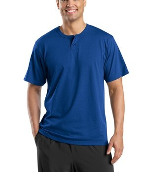 Sport-Tek T210 Short Sleeve Henley Royal