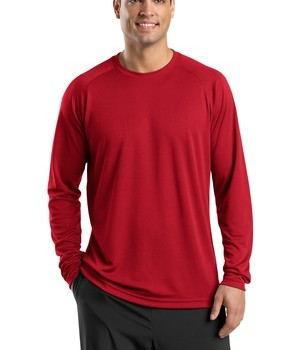 Sport-Tek T473LS Dry Zone Long Sleeve Raglan T-Shirt True Red