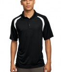 Sport-Tek T476 Dry Zone Colorblock Raglan Polo Black/White