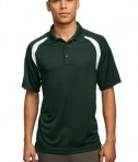 Sport-Tek T476 Dry Zone Colorblock Raglan Polo Forest Green/White