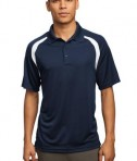 Sport-Tek T476 Dry Zone Colorblock Raglan Polo True Navy/White