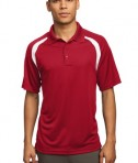 Sport-Tek T476 Dry Zone Colorblock Raglan Polo True Red/White