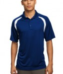 Sport-Tek T476 Dry Zone Colorblock Raglan Polo True Royal/White