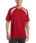 Sport-Tek T478 Dry Zone Colorblock Crew True Red/White