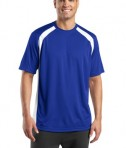 Sport-Tek T478 Dry Zone Colorblock Crew True Royal/White