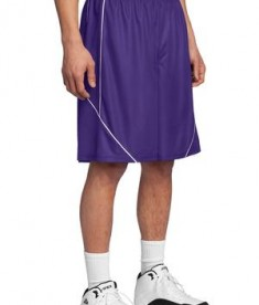 Sport-Tek T565 PosiCharge Mesh Reversible Spliced Short Purple