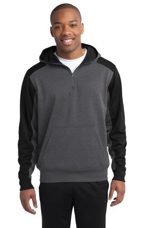Sport-Tek  Tech Fleece Colorblock 1/4-Zip Hooded Sweatshirt Style ST249 1