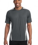Sport-Tek TST351 Tall Colorblock PosiCharge Competitor Tee Iron Grey/White
