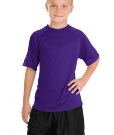 Sport-Tek Y473 Youth Dry Zone Raglan T-shirt Purple