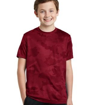 Sport-Tek Youth CamoHex Tee Style YST370 1